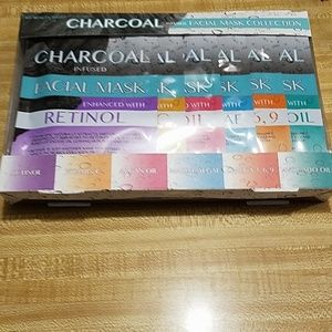 Charcoal infused facial mask set of 6